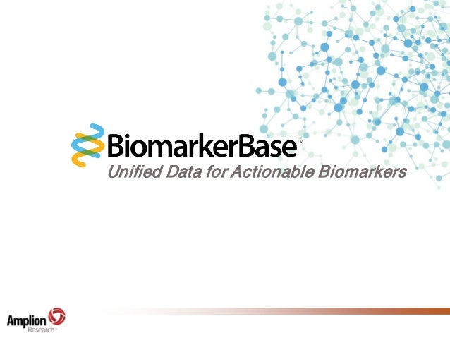 Unified Data for Actionable Biomarkers