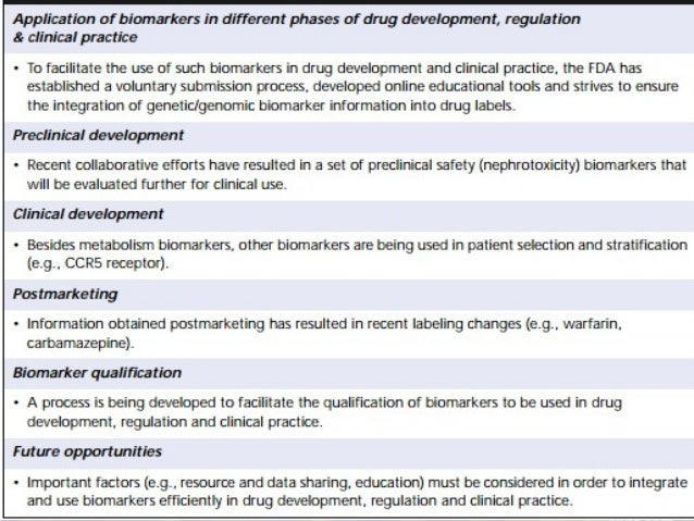 • Biomarker enabled R&D is maturing into a new discipline that is addressing these goals with more precision. • However, t...