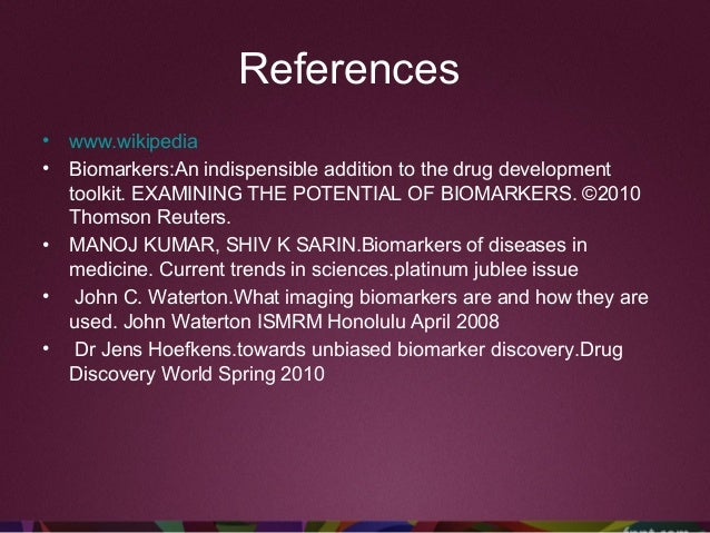  Introduction • Concise. • Description of the disease and/or experimental setting • Definition of the biomarker • Rationa...