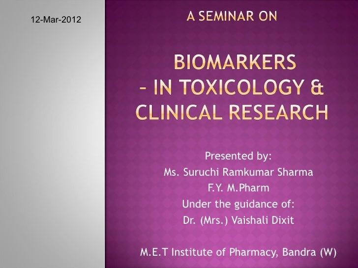 12-Mar-2012                           Presented by:                  Ms. Suruchi Ramkumar Sharma                          ...