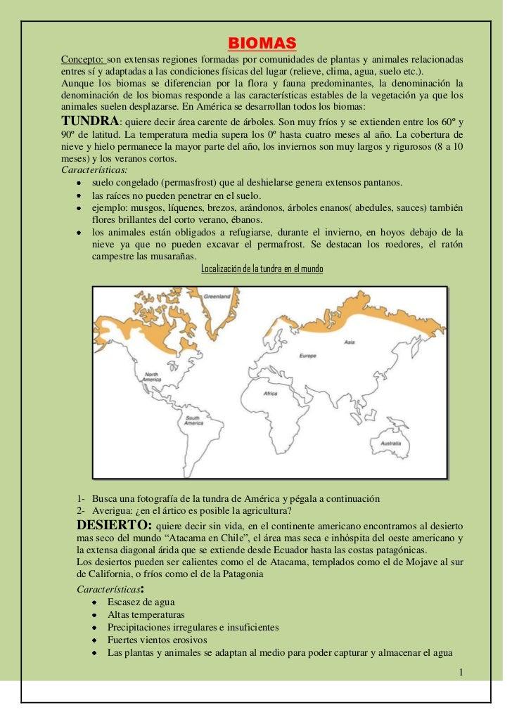 BIOMAS<br />Concepto: son extensas regiones formadas por comunidades de plantas y animales relacionadas entres sí y adapta...