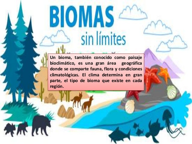 Un bioma, también conocido como paisaje bioclimático, es una gran área geográfica donde se comparte fauna, flora y condici...