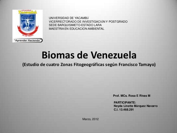UNIVERSIDAD DE YACAMBÚ            VICERRECTORADO DE INVESTIGACIÓN Y POSTGRADO            SEDE BARQUISIMETO-ESTADO LARA    ...