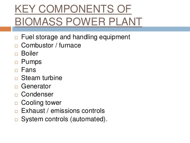 Biomass Fuelled Power Plants