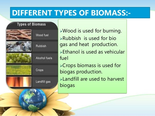 Biomass:- slide for presentatio in a detail way