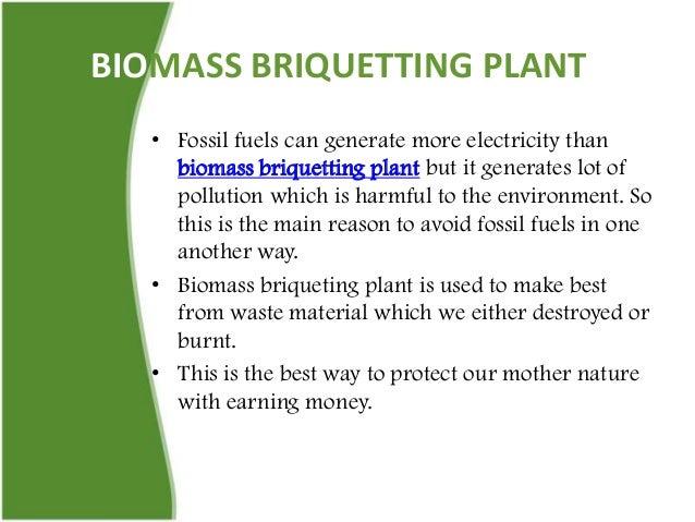 Biomass Briquettes Vs Fossil Fuels