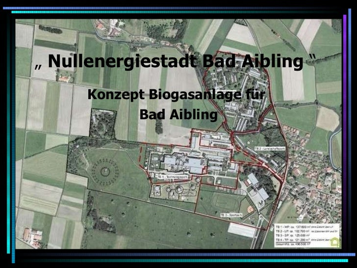 """  Nullenergiestadt Bad Aibling  ""   Konzept Biogasanlage für  Bad Aibling"