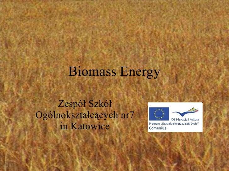Biomass Energy Zespół Szkół Ogólnokształcących nr7 in Katowice