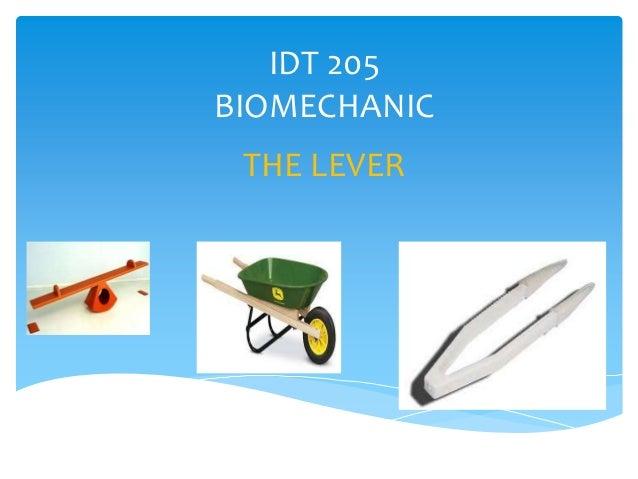IDT 205 BIOMECHANIC THE LEVER