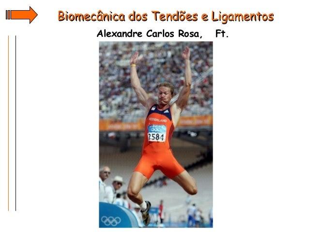 Biomecânica dos Tendões e Ligamentos Alexandre Carlos Rosa,  Ft.