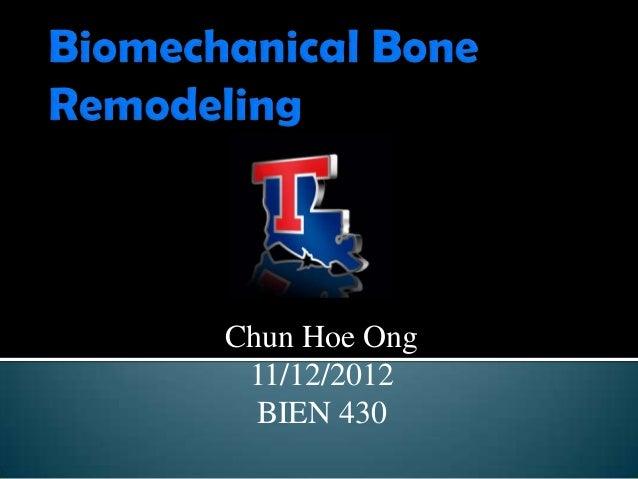 Chun Hoe Ong 11/12/2012  BIEN 430