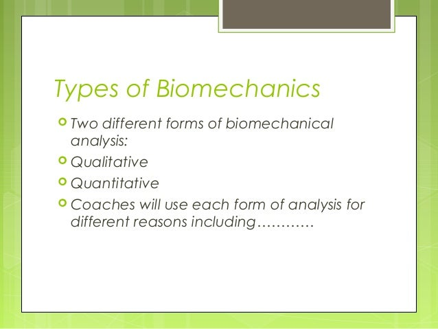 Biomechanics In Sport