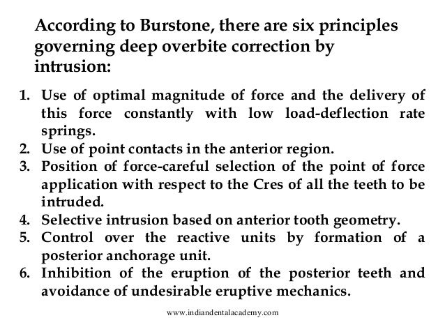 deep overbite correction by intrusion pdf