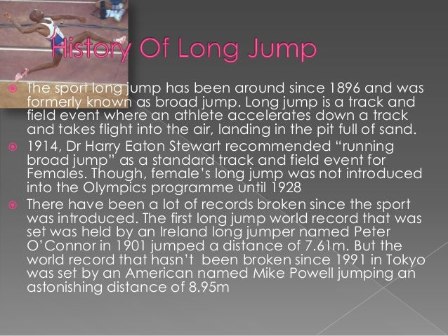 biomechanics of long jump essay There are many studies on the biomechanics of the long jump, but few  researchers have investigated how  key words: long jump, biomechanics,  kinematics, pattern recognition, multivariate  oct 2010 sci res essays.