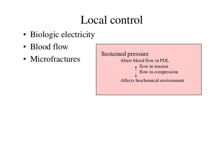 Local control• Biologic electricity• Blood flow                         Sustained pressure• Microfractures                ...