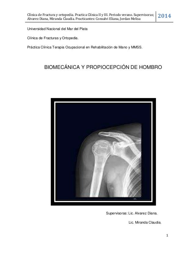 Biomecanica y Propiocepcíon de hombro.
