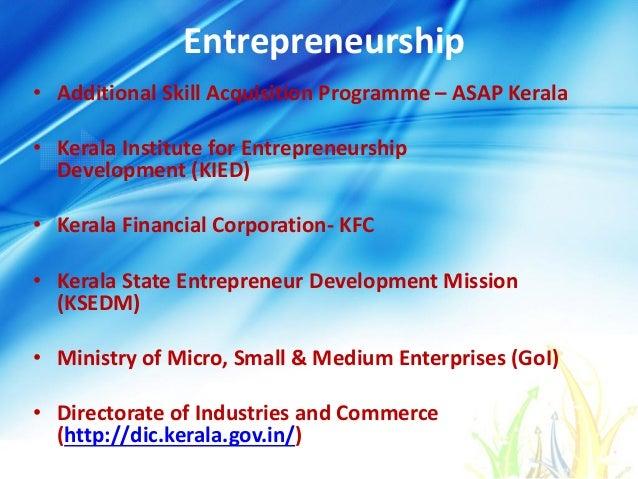 Entrepreneurship • Additional Skill Acquisition Programme – ASAP Kerala • Kerala Institute for Entrepreneurship Developmen...