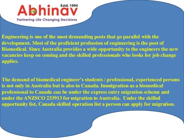 Biomedical Engineers Immigrate to Australia and Canada for