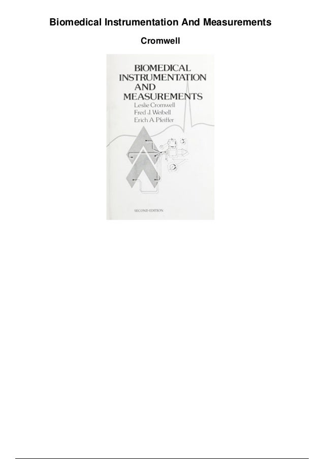 Leslie Cromwell Biomedical Instrumentation And Measurement Pdf