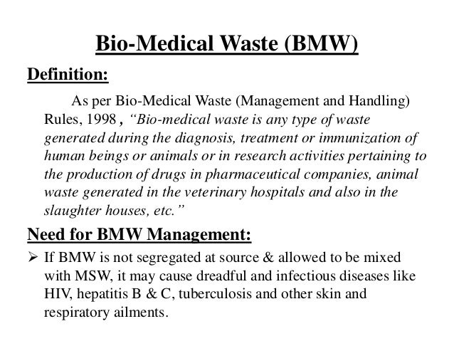 Biomedical Waste Management With Case Study Ppt By Avaneesh Yadav