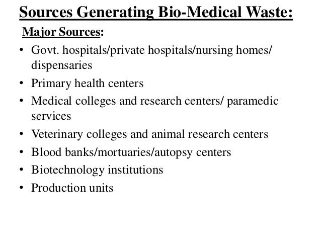 Biomedical Waste Management With Case Study Ppt By