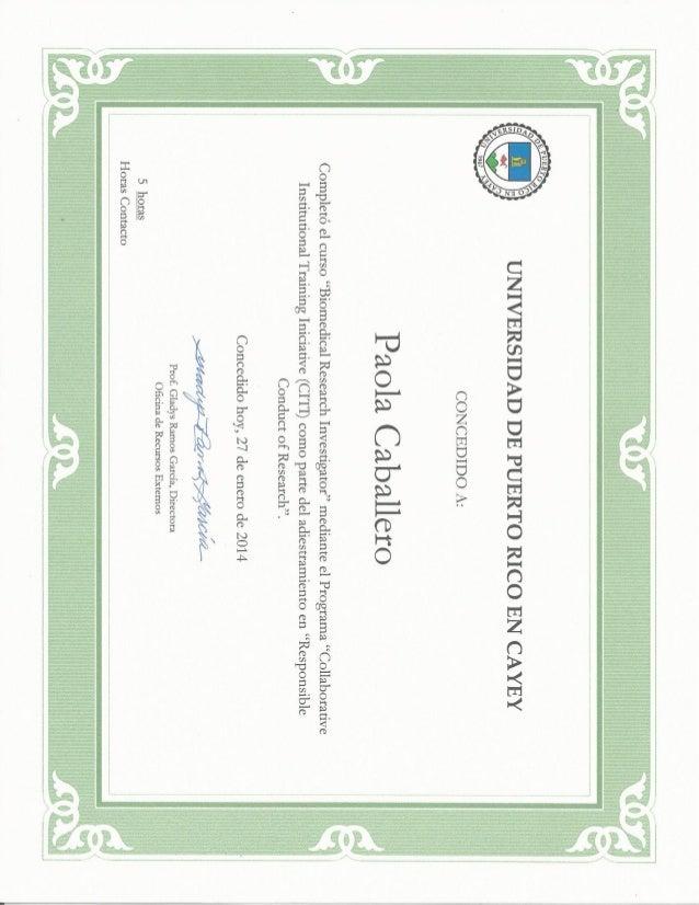 Biomedical Research Investigator Course Certificate Citi