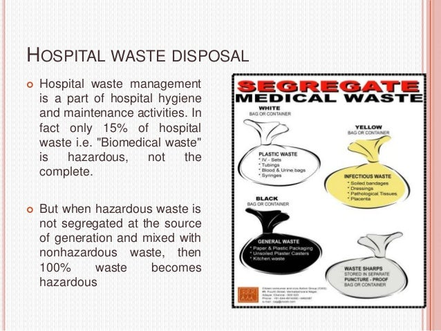thesis on hospital waste management