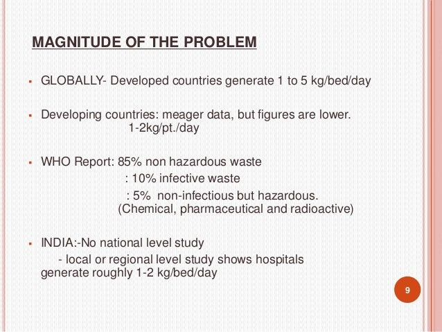 CLASSIFICATION AND CATEGORIZATION OF BIOMEDICAL WASTES (MINISTRY OF ENVIRONMENT AND FOREST)  The Ministry of Environment ...