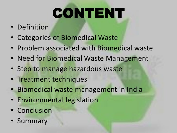 Biomedical Waste Management Ppt Final