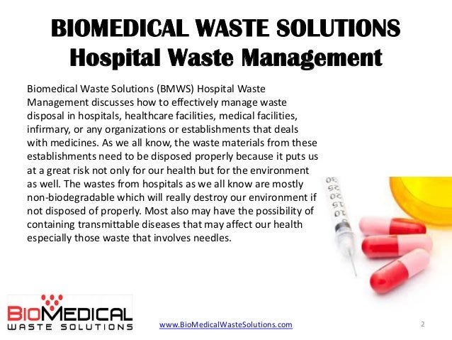 Biomedical Waste Management Rules In Hospitals 2014 Pdf Or Ppt
