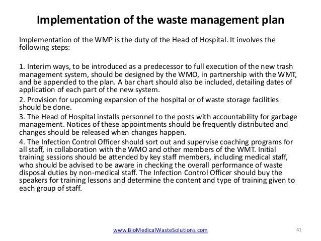 Biomedical waste management rules in hospitals 2014 pdf or ppt for Waste management plans template