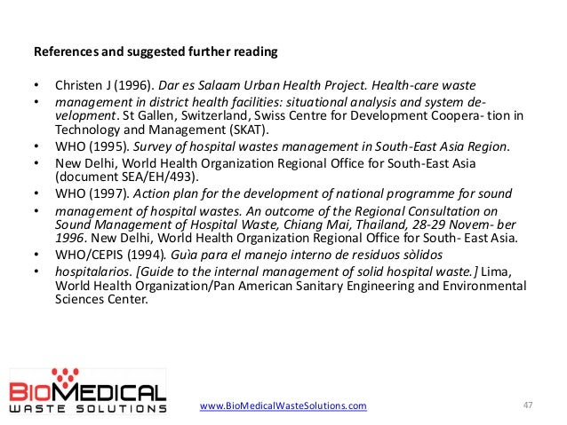 solid waste management of hospitals in Factors affecting medical waste management in low-level health facilities in tanzania  defines medical waste as any solid waste generated in the diagnosis, treatment, or immunization of  regulations applying to the collection of waste from the hospital wards and the on-site transport to a temporary.