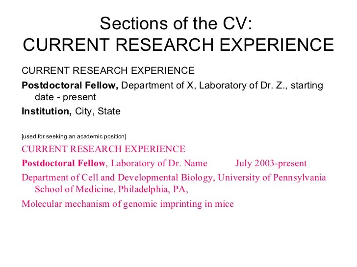 biomed postdocs cv resumes