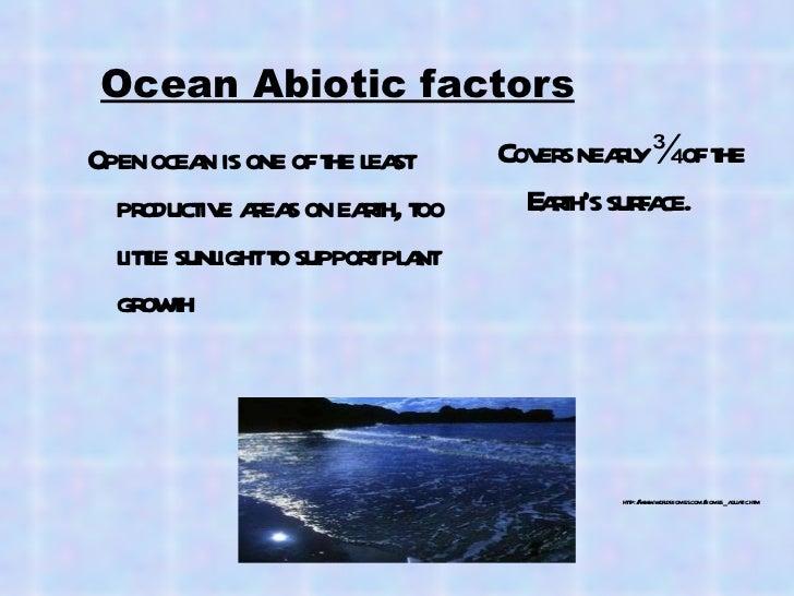what abiotic factors are in the ocean