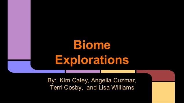 Biome Explorations By: Kim Caley, Angelia Cuzmar, Terri Cosby, and Lisa Williams