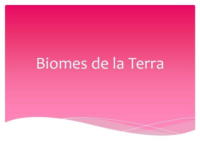 Biomes de la Terra