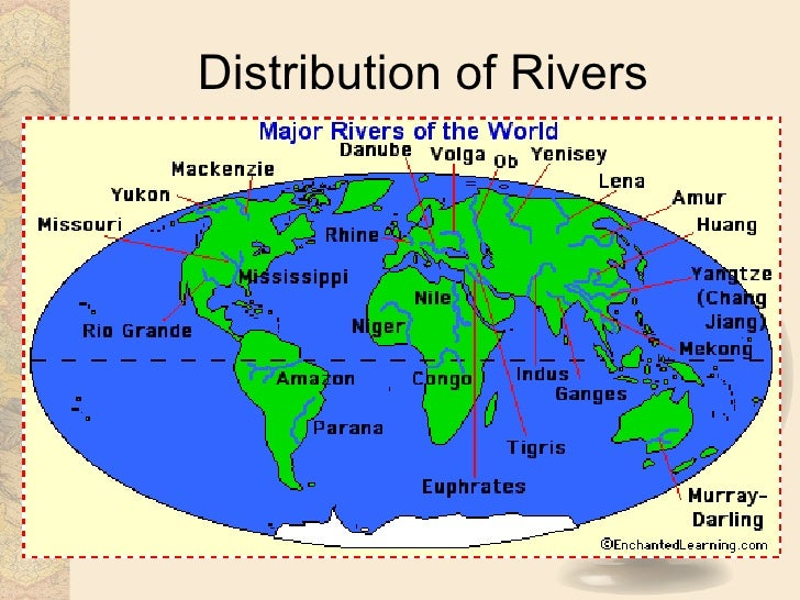 Distribution Of Rivers; 17.