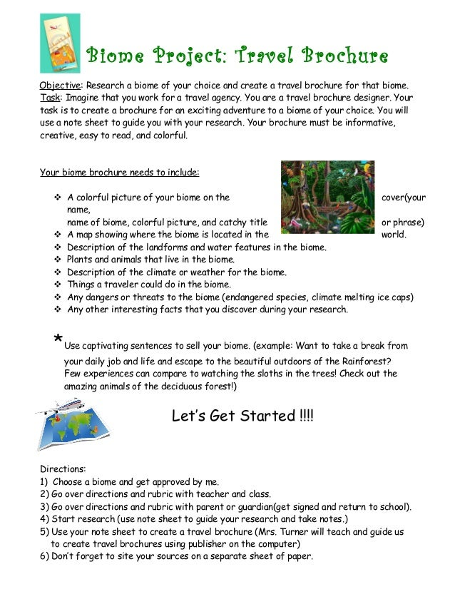 biome project travel brochure objective research a biome of your choice and create a