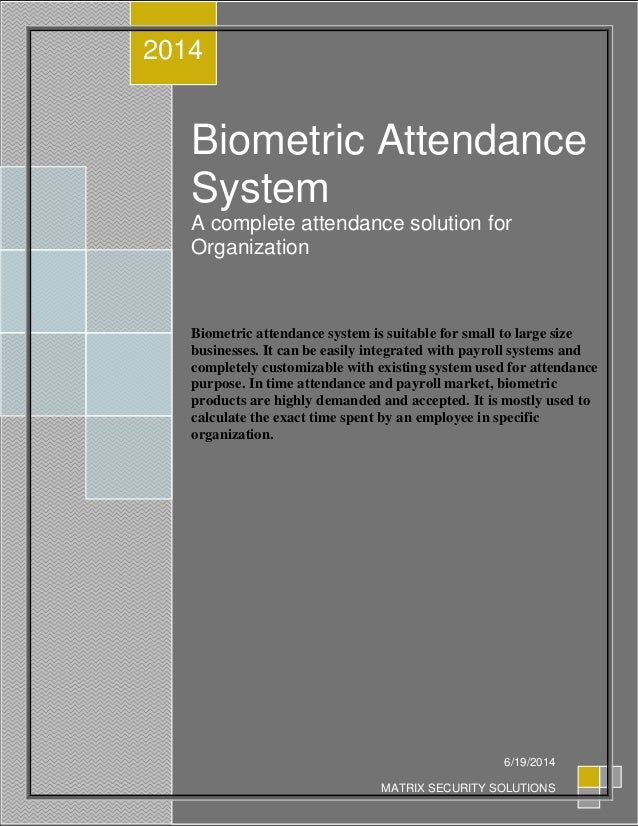 biometric attendance system project report