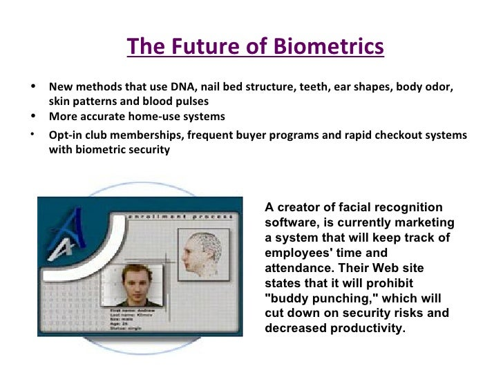 biometric technology Biometric technology is inherently individuating and interfaces easily to database technology, making privacy violations easier and more damaging.
