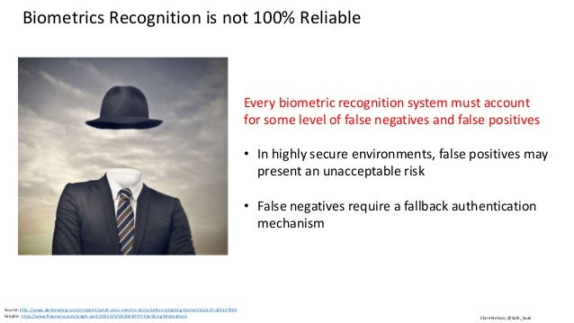 Clare Nelson, @Safe_SaaS What CISOs Need To Know Before Adopting Biometrics Biometric data is Personally Identifiable Info...