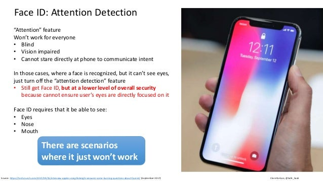 Clare Nelson, @Safe_SaaS Face ID: What About Sunglasses? Source: https://techcrunch.com/2017/09/15/interview-apples-craig-...
