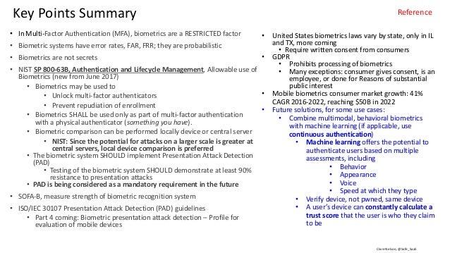 Clare Nelson, @Safe_SaaSSource: http://www.idtp.com/identity/ Terms Biometric data processing : biometric system data proc...