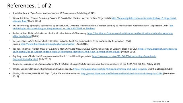 Clare Nelson, @Safe_SaaS • Steves, Michelle, et al, NISTIR, Report: Authentication Diary Study, http://nvlpubs.nist.gov/ni...