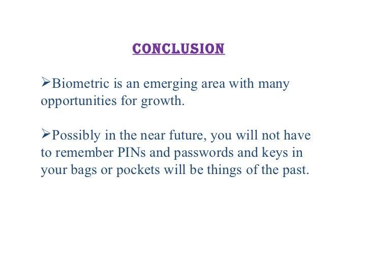 Biometric's final ppt