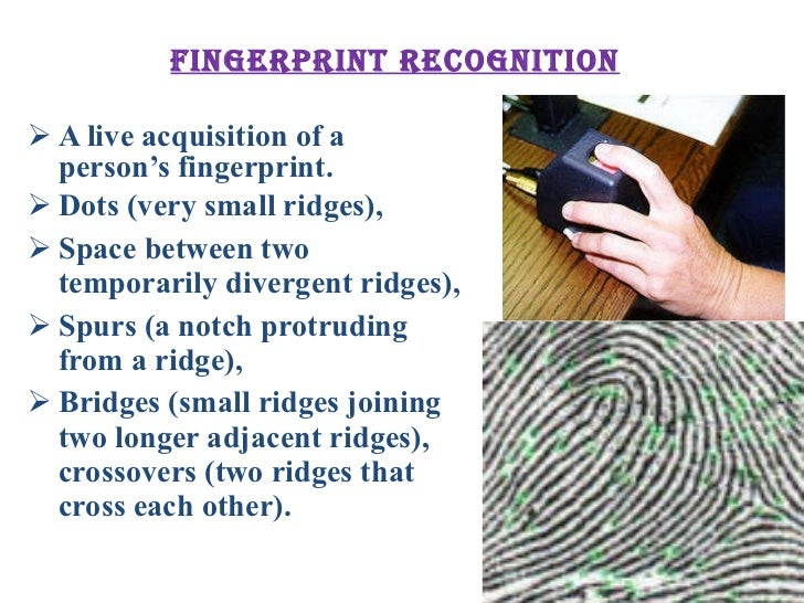 Fingerprint recognition technique(ppt).