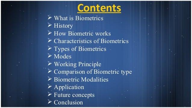 History of biometrics ppt