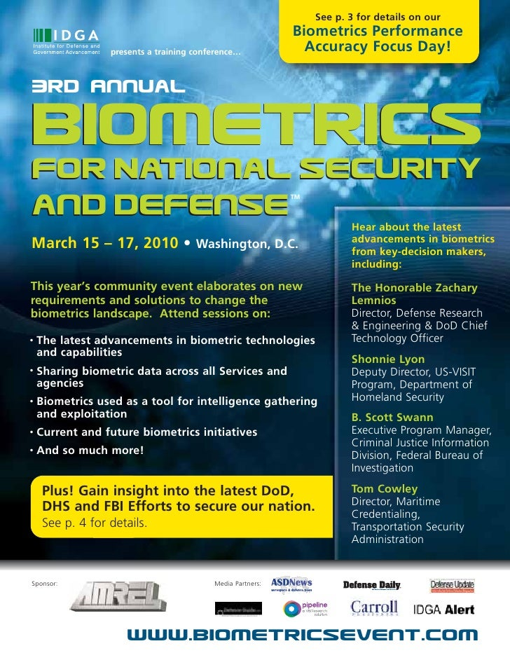 See p. 3 for details on our                                                             Biometrics Performance            ...