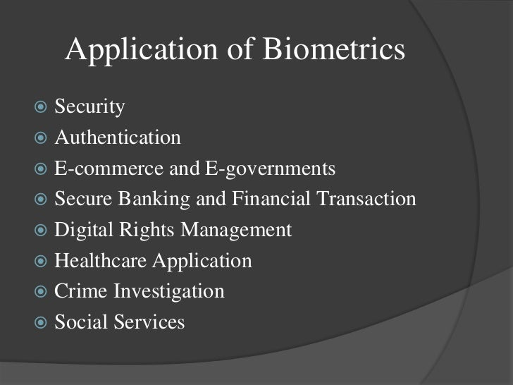 thesis statement on biometrics Fingerprint project - free download as word doc general statement of the biometrics are automated methods of recognizing an individual based on their.