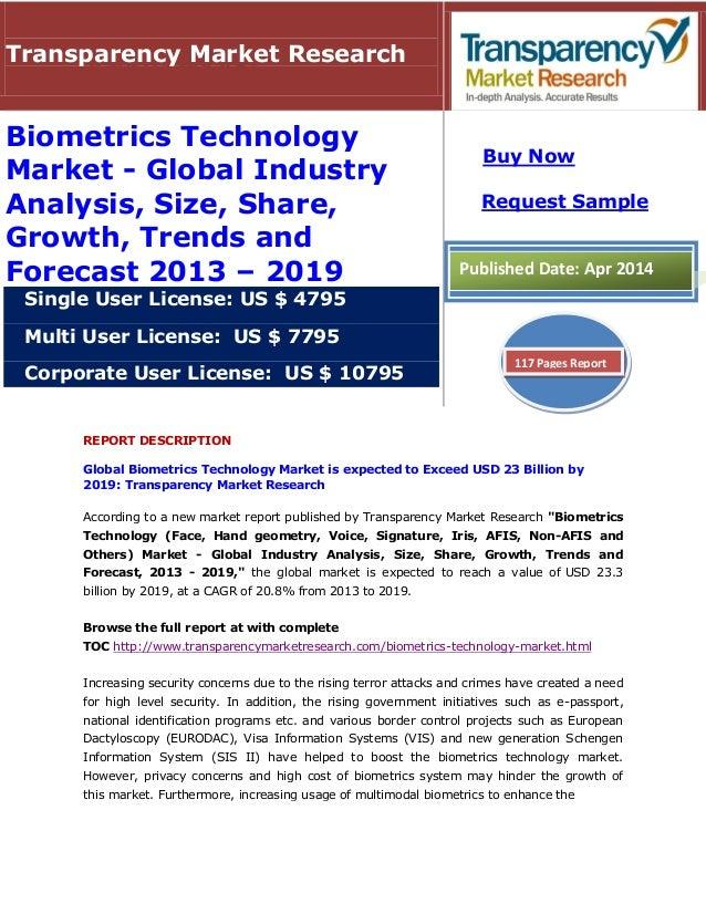 market technology global growth biometrics analysis industry forecast trends slideshare